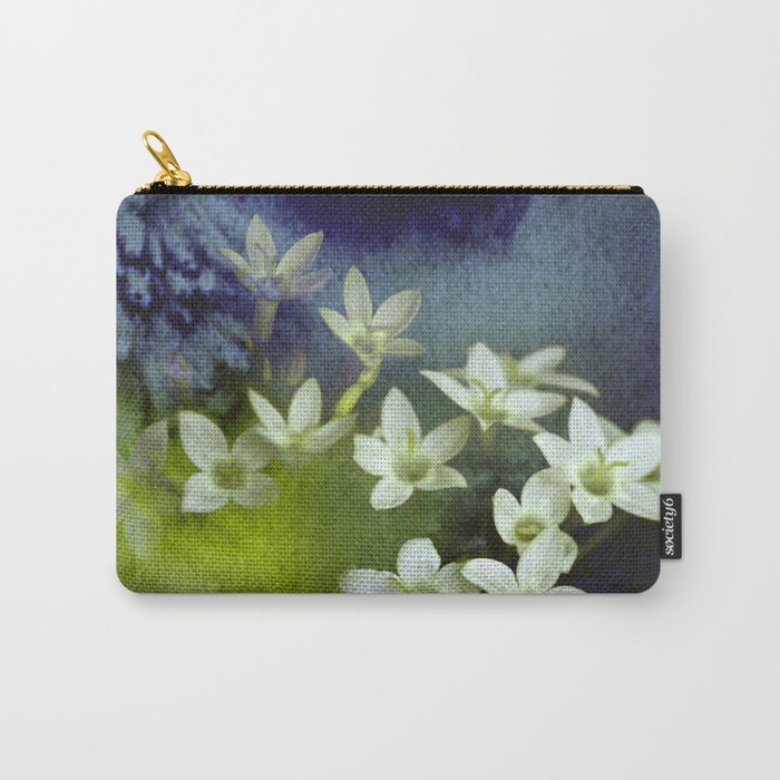 little white flowers and watercolors Carry-All Pouch