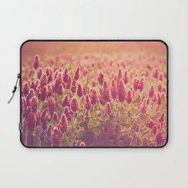 Crimson Clover Field Laptop Sleeve