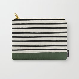 Forest Green x Stripes Carry-All Pouch