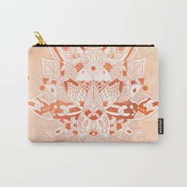 Happiness Mandala Metallic Rose Gold Beige Carry-All Pouch