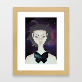 Space Moth Framed Art Print