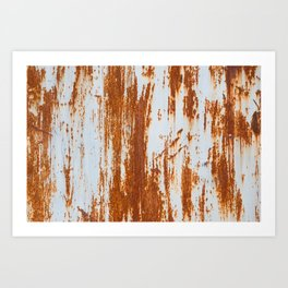 grunge rusty steel wall background and texture Art Print
