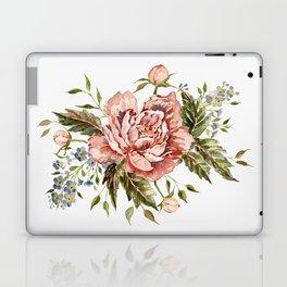 Pink Wild Rose Bouquet Laptop & iPad Skin