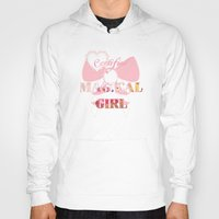 magical girl Hoodies featuring Certified Magical Girl by Wealthy Loser
