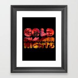 COLD SUMMER NIGHTS Framed Art Print
