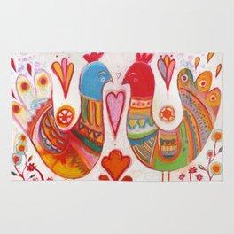 Folk Love Birds Rug