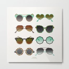 Sunglasses Collection – Mint & Tan Palette Metal Print