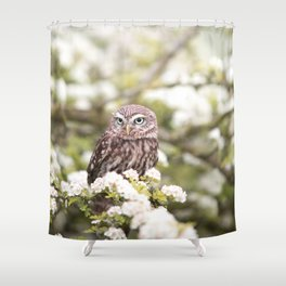 Chouette nature Shower Curtain
