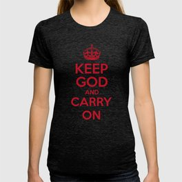 keep God and Carry On - White Book T-shirt
