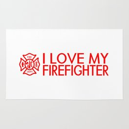 Firefighter: I Love My Firefighter (Florian Cross) Rug