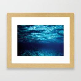 Blue Underwater Framed Art Print