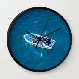 Rower in the Adriatic Wall Clock