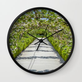 The Lost Gardens of Heligan - Vegetable Garden Apple Arches Wall Clock