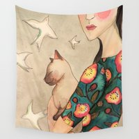 la Wall Tapestries featuring la reverie by sylvie demers