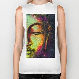 Buddha portrait Biker Tank