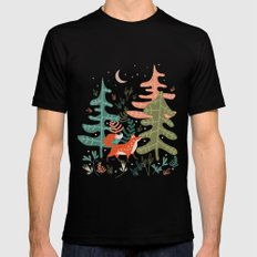 Evergreen Fox Tale LARGE Mens Fitted Tee Black