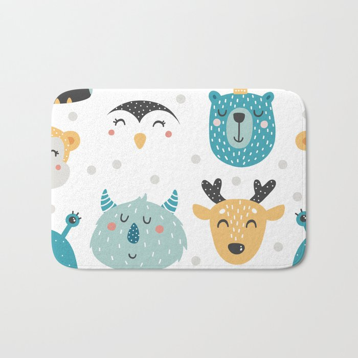 Baby Animals - Fantasy and Woodland Creatures Pattern Bath Mat