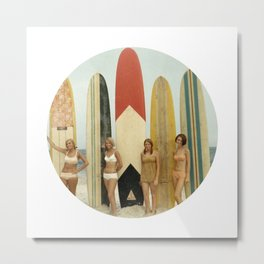 Surfer Girls Metal Print