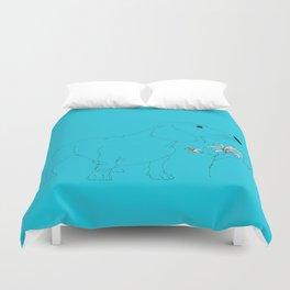 Blue Dachsund Love Duvet Cover
