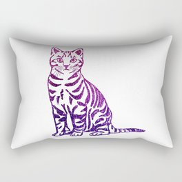 Purple Pussycat Rectangular Pillow