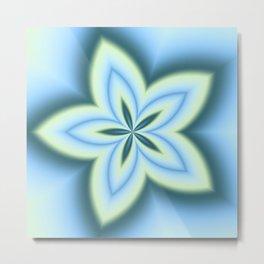 String Art Flower in MWY 01 Metal Print