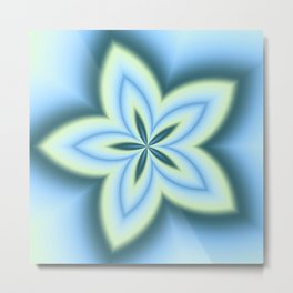 String Art Flower in MWY 01 Metal Print
