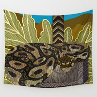 thor Wall Tapestries featuring Python - Thor by ArtLovePassion