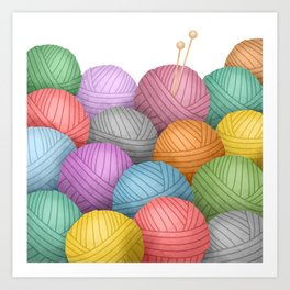 So Much Yarn Art Print