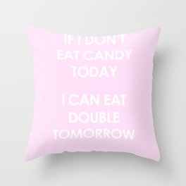 The marshmallow diet Throw Pillow