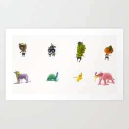 Monsters in the Parasol Art Print