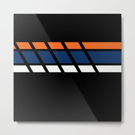 Team Colors...blue,orange Metal Print