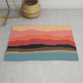 Abstract Mountains and Hills Rug
