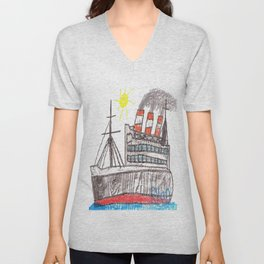 Full Steam Ahead! Unisex V-Neck