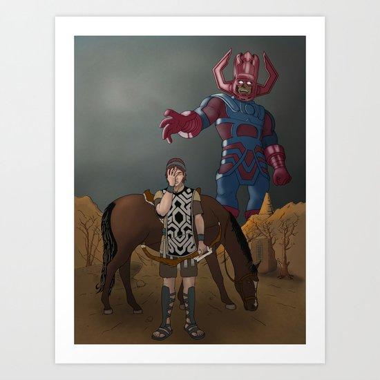Shadow of the... Galactus?? Art Print