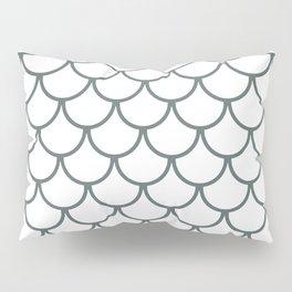 Steel Grey Fish Scales Pattern Pillow Sham