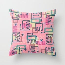 Mid Century Modern Abstract Pattern 937 Throw Pillow