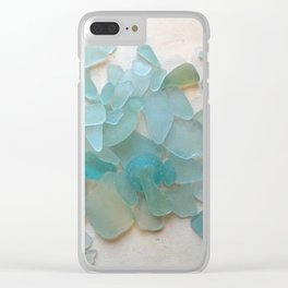 Ocean Hue Sea Glass Clear iPhone Case