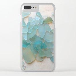 Ocean Hue Sea Glass Clear iPhone Case