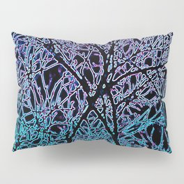 Tangled Tree Branches in Blue and Teal Pillow Sham