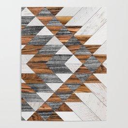 Urban Tribal Pattern No.12 - Aztec - Wood Poster