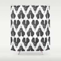 Bowie pattern bw Shower Curtain