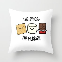 The Smore The Merrier Cute Snack Pun Throw Pillow
