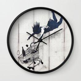 Banksy, Shop Until You Drop Wall Clock