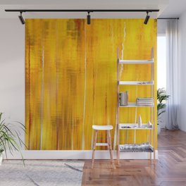 Autumn colors reflecting on the lake surface #decor #buyart #society6 Wall Mural