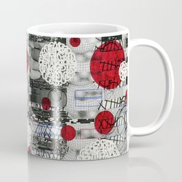 The Importance of Measuring Feet / The Needs of the Business (P/D3 Glitch Collage Studies) Coffee Mug