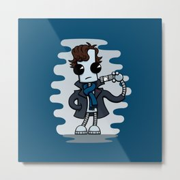Ned the Detective Metal Print