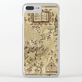 Wizarding World Vintage Map Clear iPhone Case