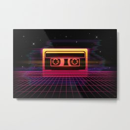 Sunset Cassette Metal Print