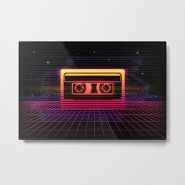 Sunset Cassette Metal Print