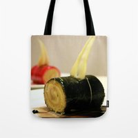 cake Tote Bags featuring CAKE by habish